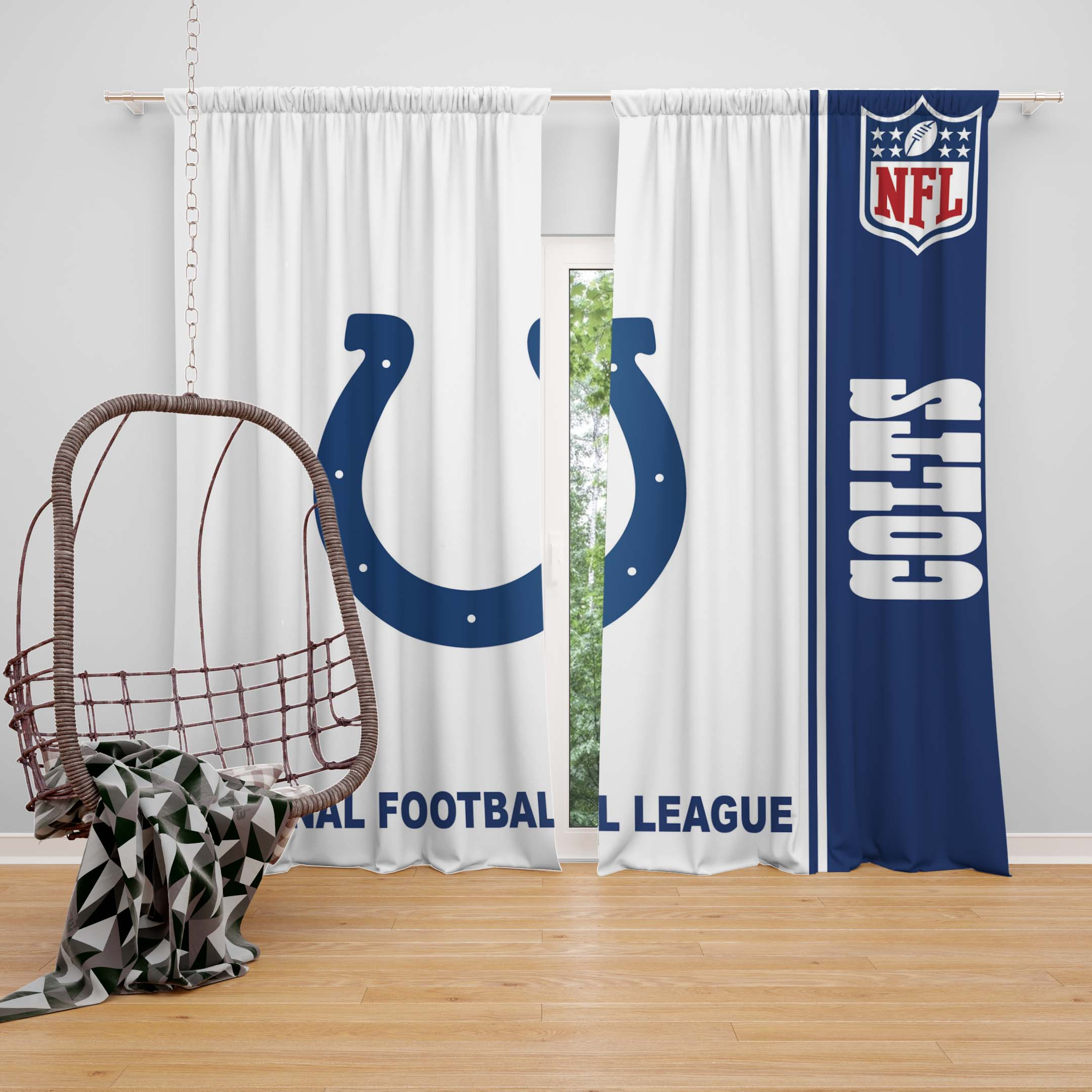 chair covers and linens indianapolis blue white nfl colts bedroom curtain ebeddingsets