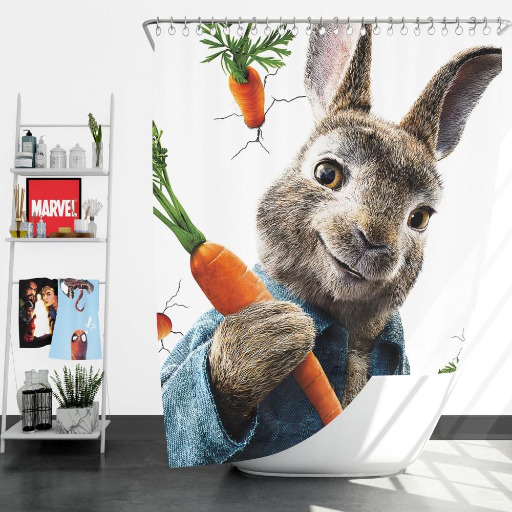 peter rabbit animation movie shower curtain