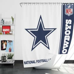 Dallas Cowboys Chair Cover Patio With Hidden Ottoman Nfl Shower Curtain | Ebeddingsets