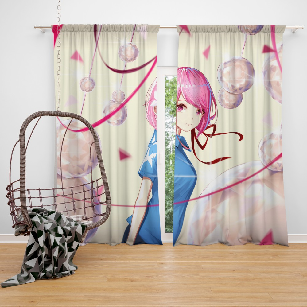 Teen Japanese Anime Girl Bedroom Window Curtain  EBeddingSets