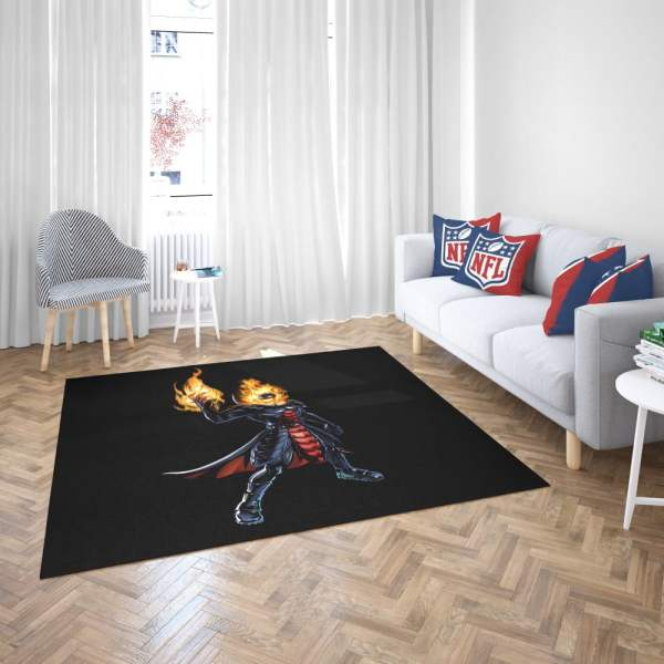 Marvel Comics Ghost Rider Bedroom Living Room Floor Carpet