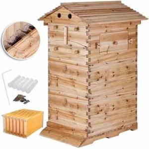 Happybuy 3-Layer BeeHive Box Starter Kit 7-Pcs Auto-Flow