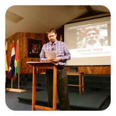 Our main speaker Joe Bruce who was a missionary to Venezuela and our adviser.