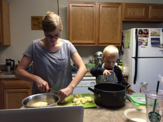 """""""Mommy, fun!!"""" Cooking together is one of the most exciting things there is!"""