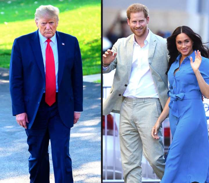 Prince Harry and Meghan Markle reply to President Trump after he said they must pay for their own security in the US