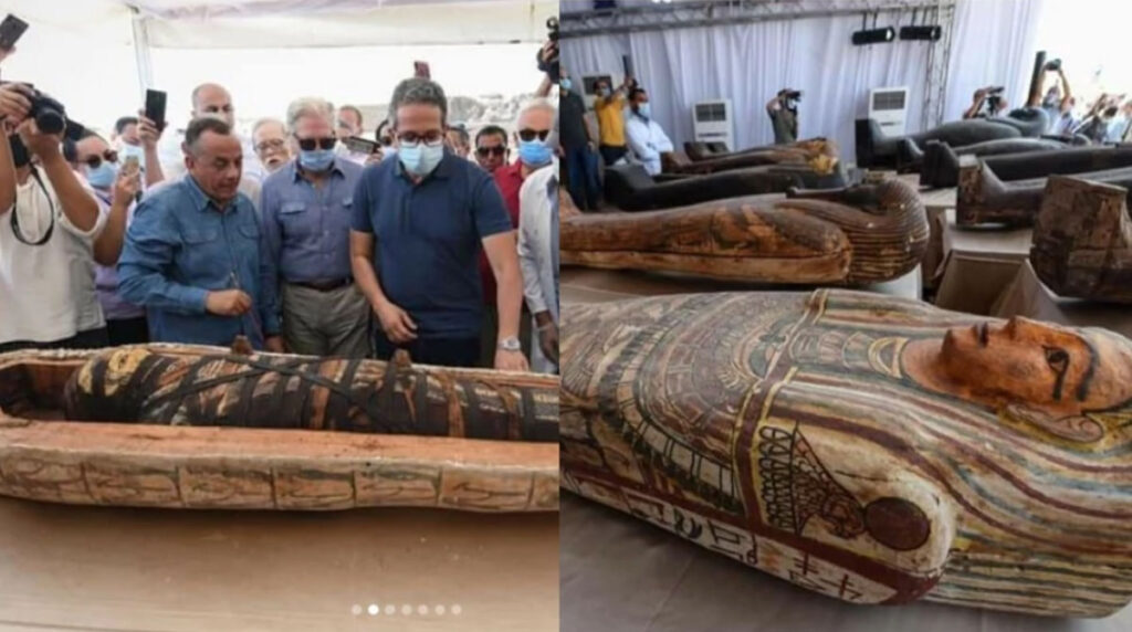 2500-Year-Old Coffins unearthed In Egypt And Opened For The First Time (Video)