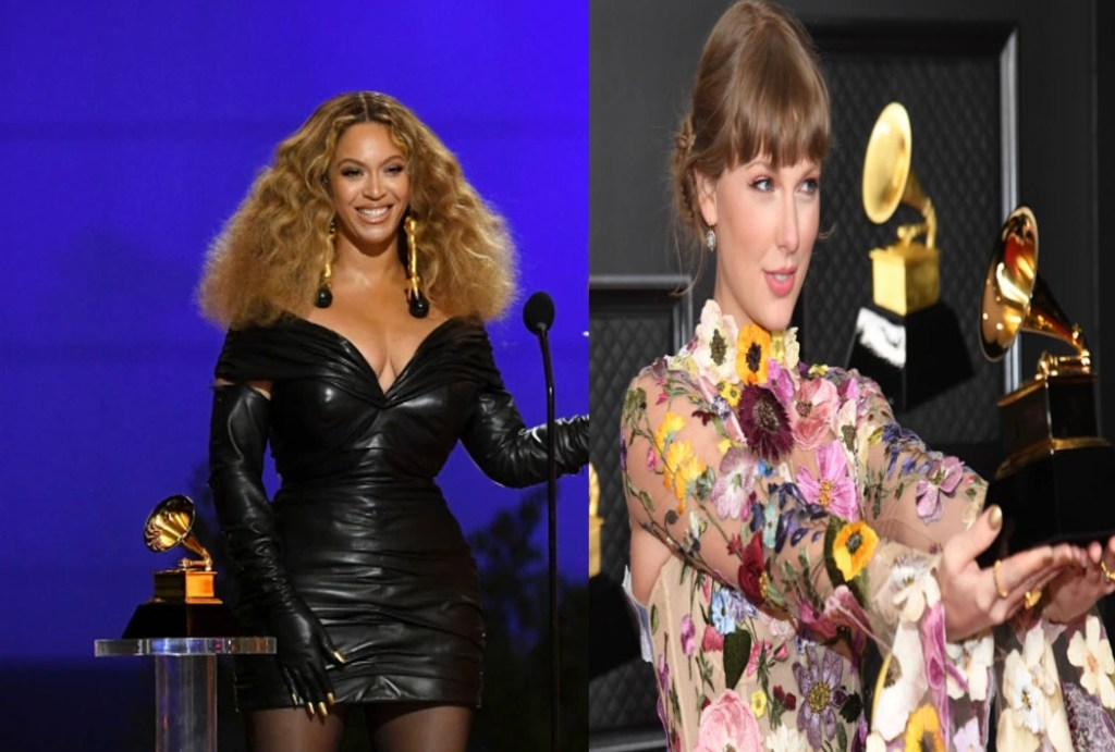 Female-performers-dominated-contemporary-musics-top-awards-on-Sunday-night-as-Beyonce-and-Taylor-Swift-made-Grammys-history