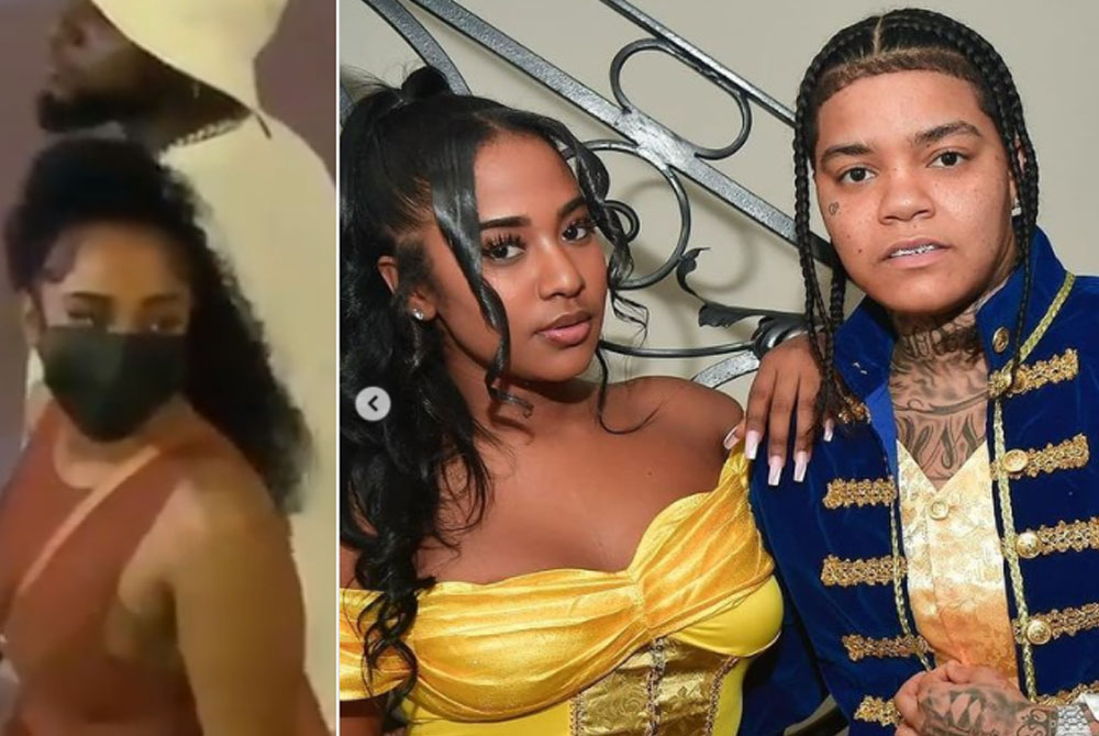 American rapper, Young M.A has reacted to the viral video of her ex-girlfriend, model Mya Yafai holding hands with Nigerian singer, Davido