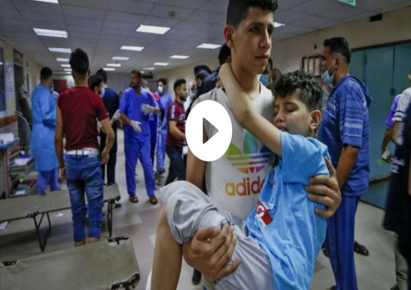 Israeli forces bomb police headquarters and security buildings in Gaza as authorities say 69 Palestinians killed, including 17 children, since the escalation began