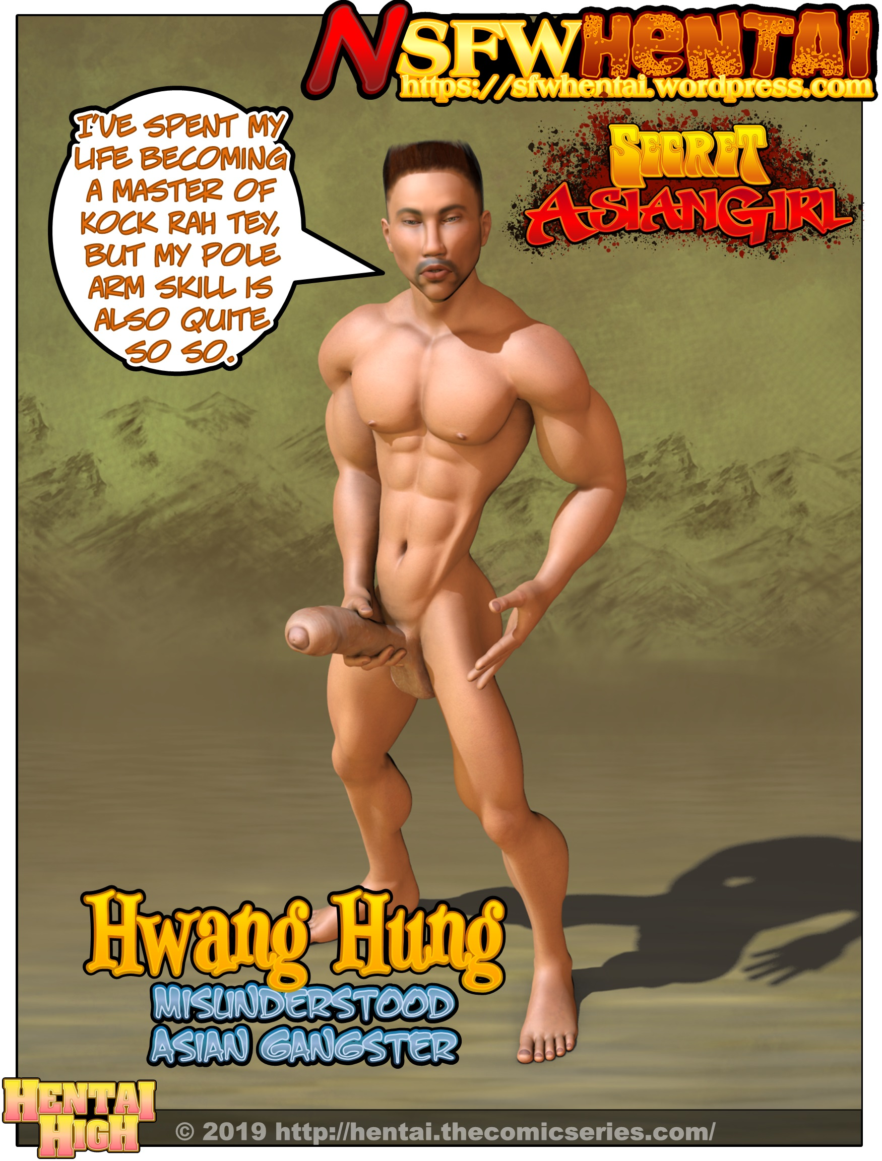 Hung Bishonen Martial Arts Master Asian Porn Gangster Stud Huang Hung.