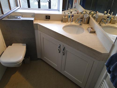 meuble salle de bain bois sous vasque