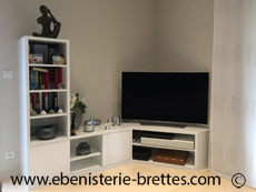 meuble tv ebenisterie brettes