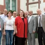 Der neue Vorstand der Ebersheimer SPD am 16. Mai 2008