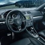 volkswagen golf cabriolet r interior and dashboard