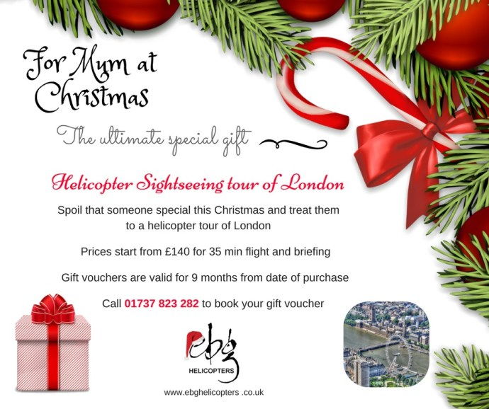 Christmas Helicopter Sightseeing Gift Voucher