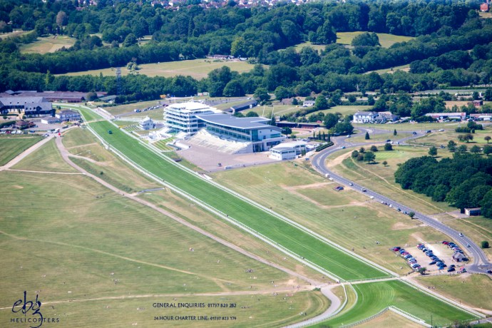 Epsom Downs race-course from the air