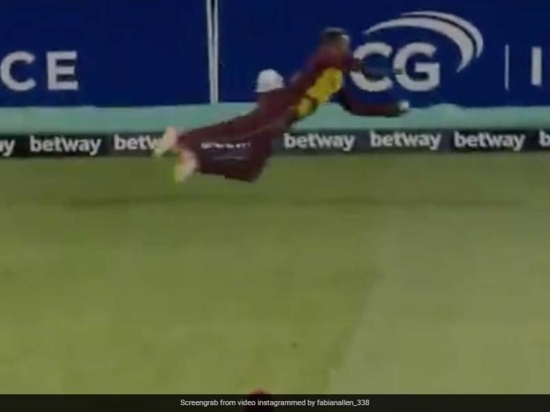 Watch: West Indies Fabian Allen Takes Wonder Catch To Dismiss Australia Captain Aaron Finch In Final T20I