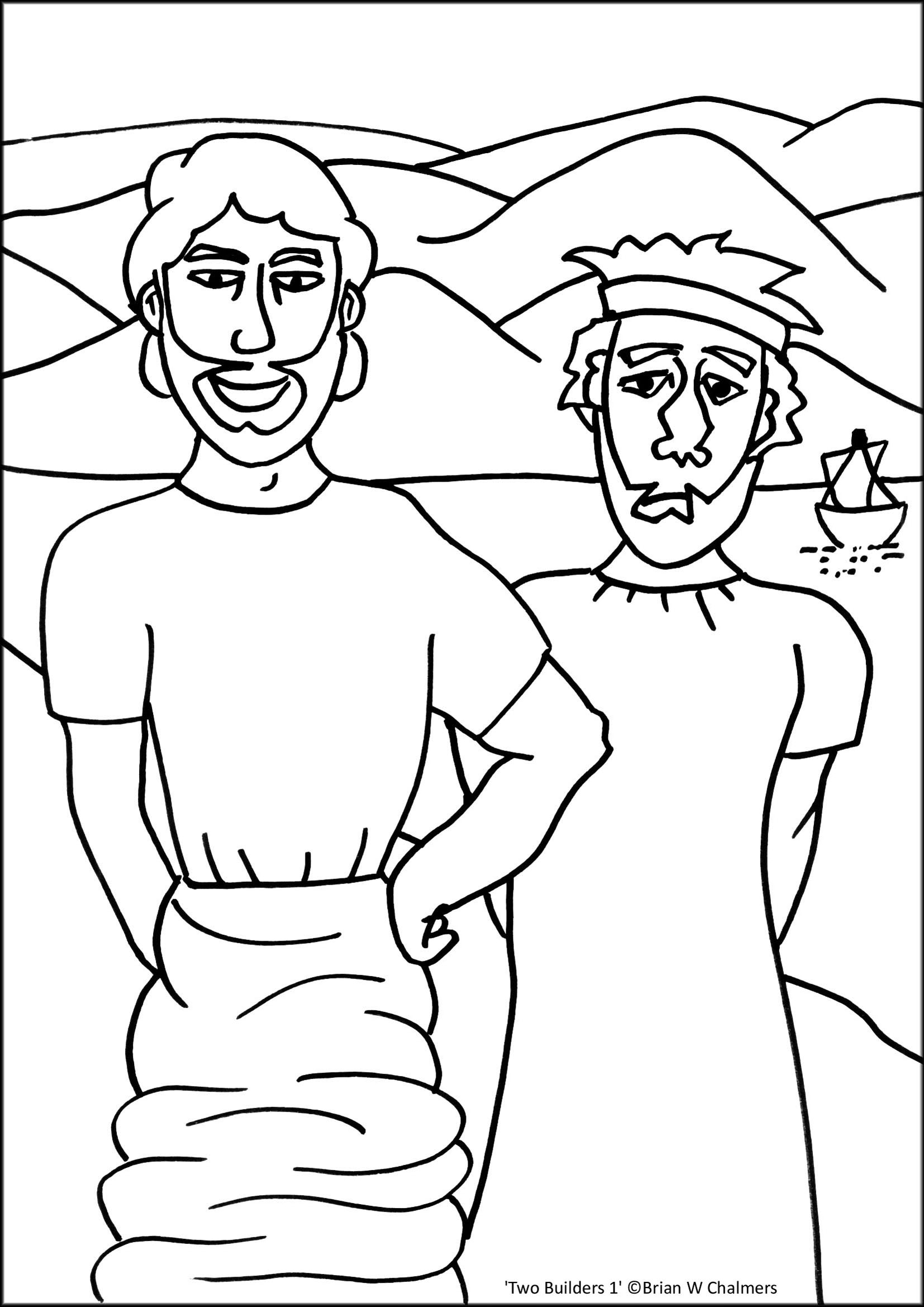 Free biblical man coloring pages