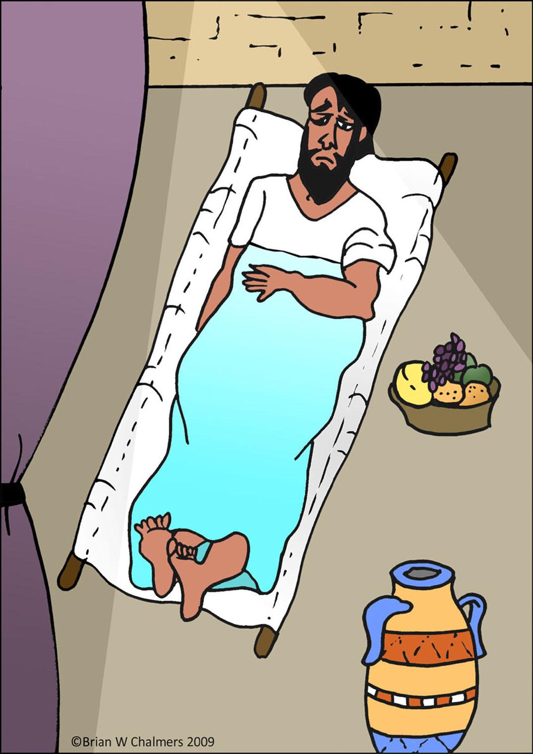 Jesus Heals The Paralytic Man Flip Chart