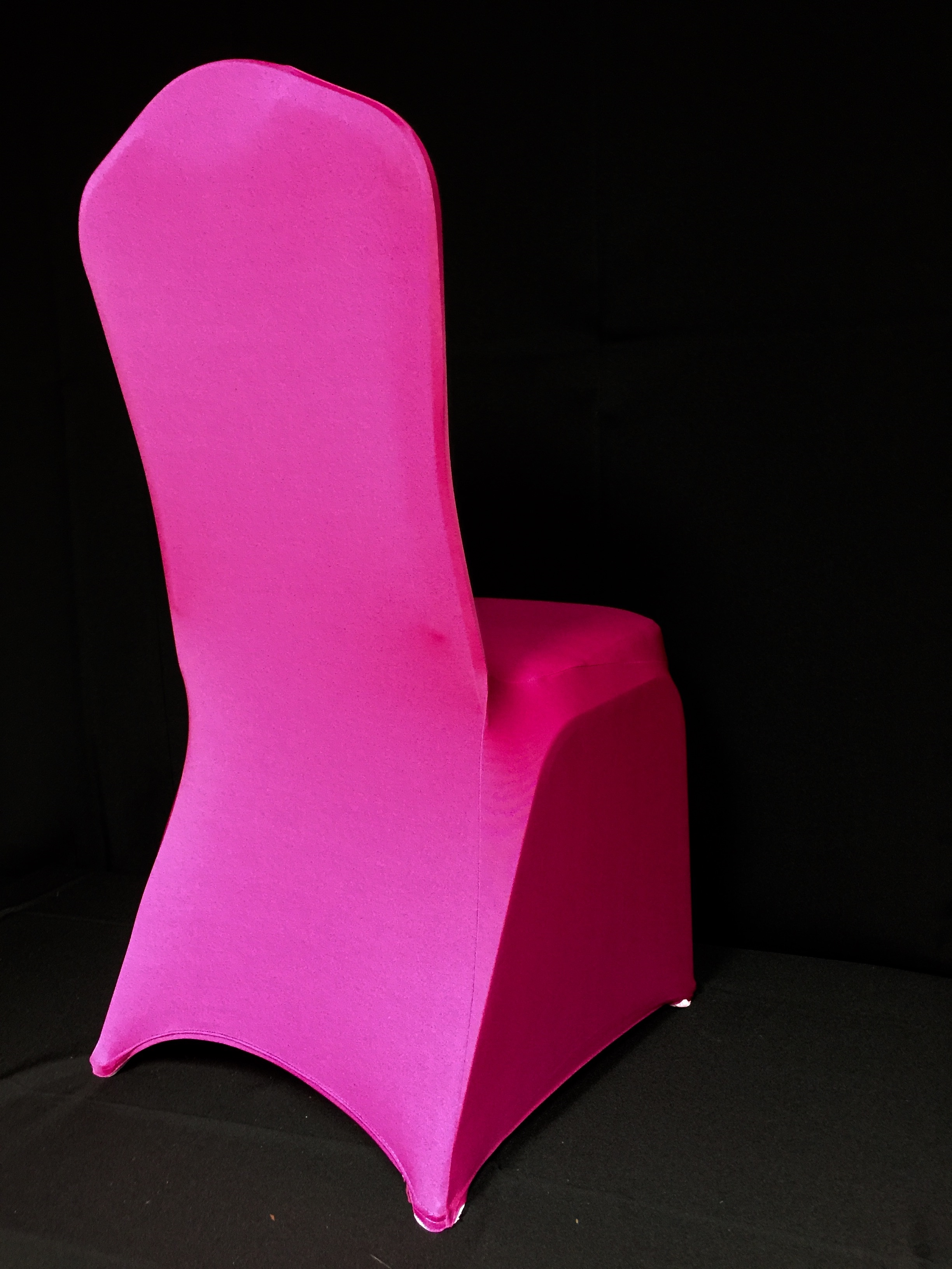 light pink spandex chair covers office task chairs eb inc events fuchsia
