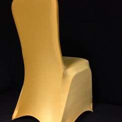 Gold Chair Covers With Black Sash Zero Gravity Indoor Eb Inc Events Spandex