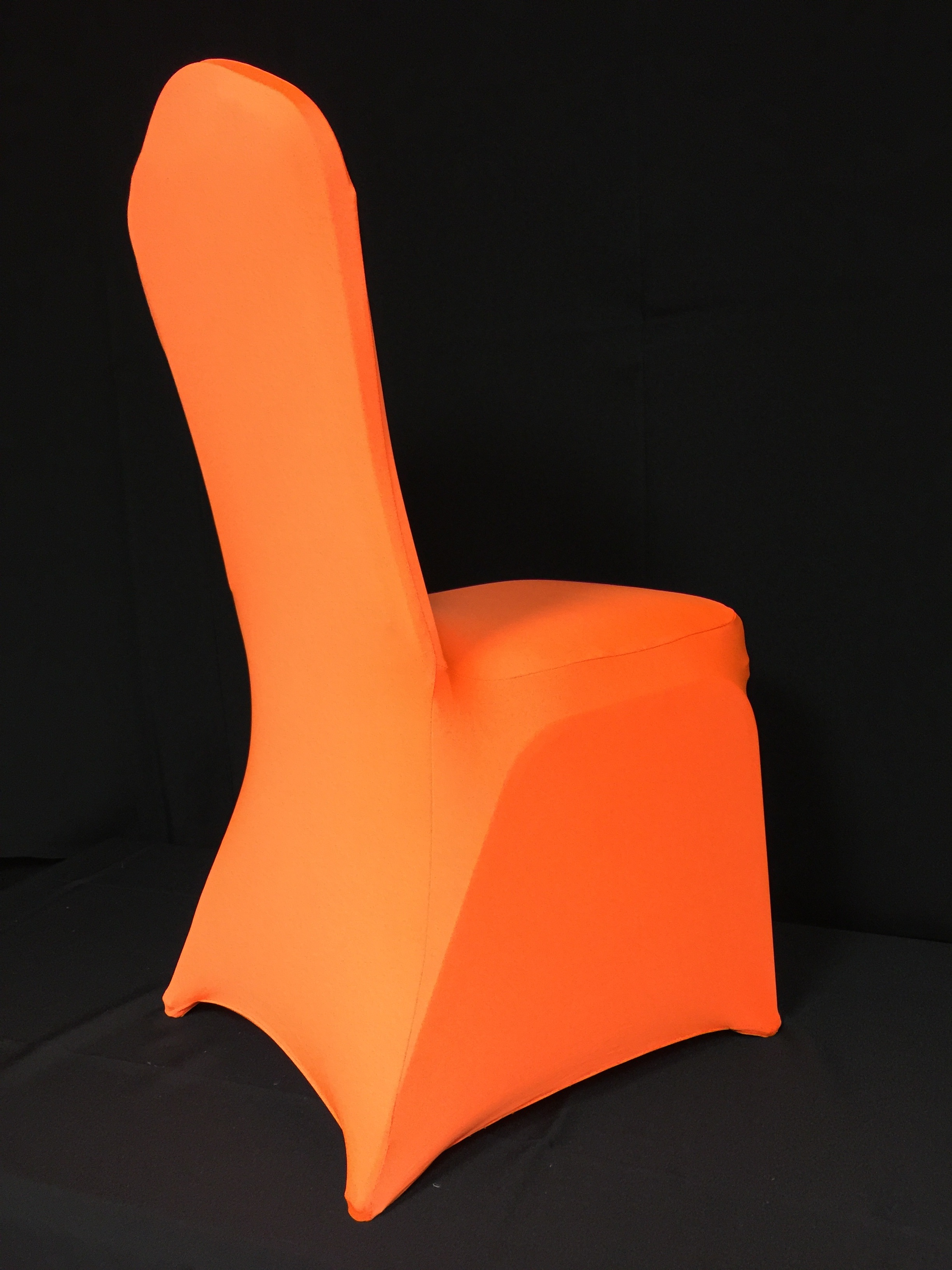 red spandex chair sashes hanging range eb inc events orange covers
