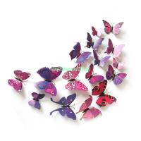 3D Removable Butterfly Wall Stickers Flower DIY Decal Art ...