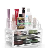 Clear Makeup Case Drawers Cosmetic Organizer Jewelry ...
