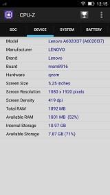 Resultados de CPU-Z K5 3/7