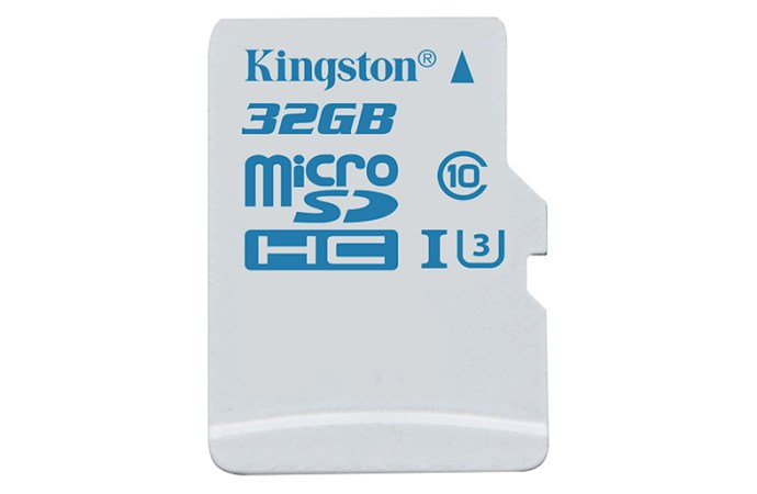 Kingston Technology introduce tarjeta microSD para cámaras de acción