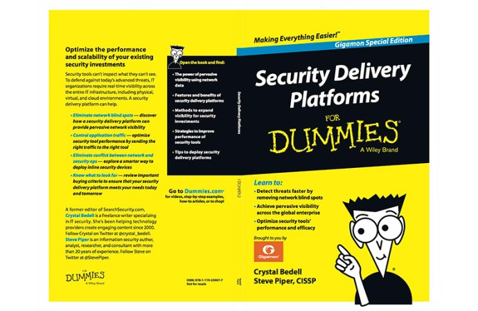 Gigamon presentó Security Delivery Platforms for Dummies