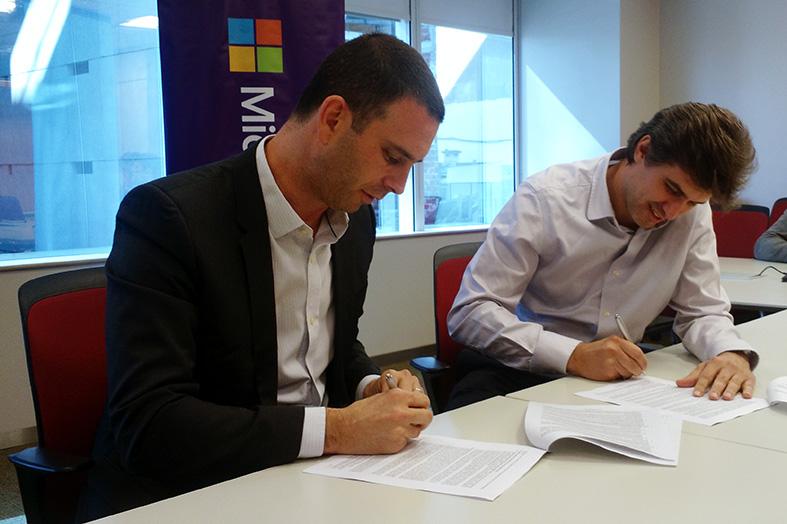 Diego Bekerman y  Diego Maldini firman acuerdo