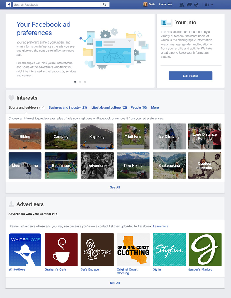 Facebook - Avisos Desktop Version