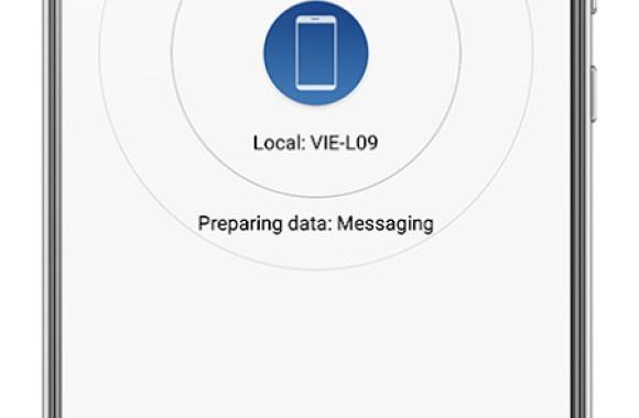 Huawei Phone Clone prepara y envía los datos seleccionados