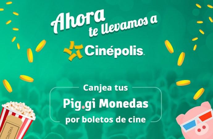Pig.gi ofrece boletos de cine a cambio de Pig.gi monedas