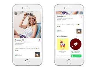 Tinder está deslizando el volumen hacia arriba con Spotify