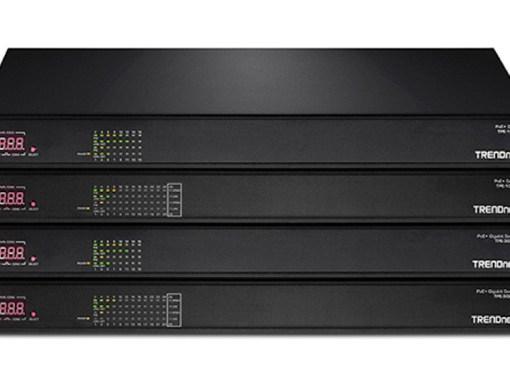 TRENDnet presenta una nueva serie de Switches PoE+ AV