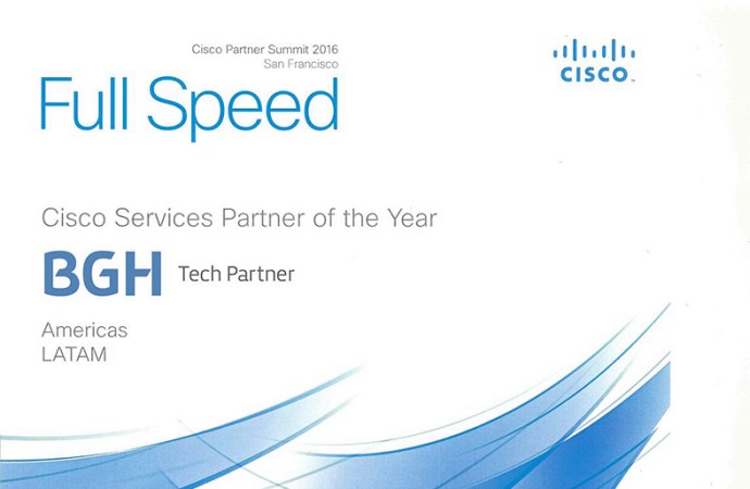 BGH Tech Partner fue elegida como Cisco Services Partner del año en Latinoamérica