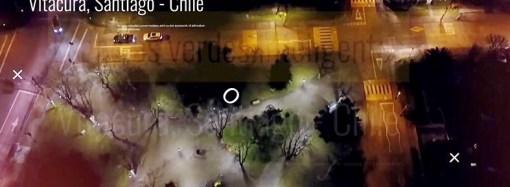 """""""Iluminación inteligente"""" logra un ahorro de energía del 73,7% en plazas de Vitacura"""