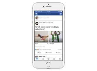 Facebook lanzó encuestas con GIFs e imágenes