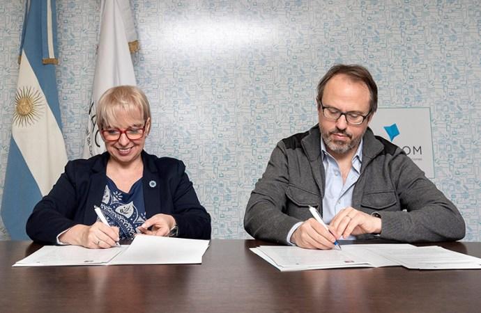 Enacom firmó un convenio con el municipio de Tres de Febrero