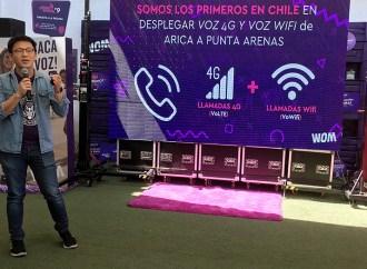 WOM lanzó su servicio de llamadas 4G y wifi desde Arica a Punta Arenas