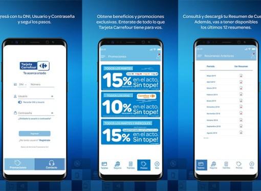 Carrefour presentó la aplicación para celulares de su tarjeta de crédito