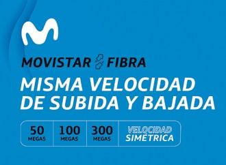 Movistar lanzó velocidad 100% simétrica a todos sus clientes fibra