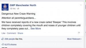 Facebook warning