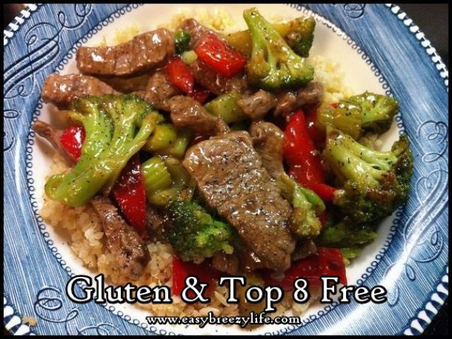 Easy Beef Stir Fry - Top 8 Free and Gluten Free