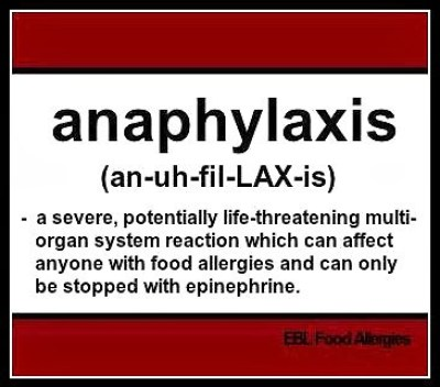 EBL Food Allergies: anaphylaxis