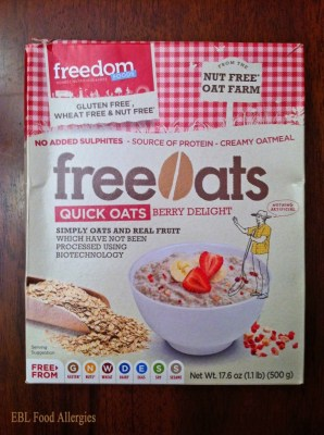 Freedom Foods: Allergy-Friendly Quick Oats - Berry Delight
