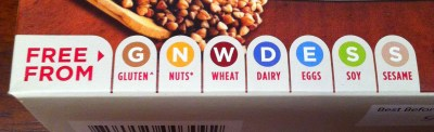 Freedom Foods: Free From gluten, nuts, wheat, dairy, eggs, soy, sesame