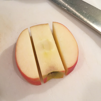 How to prepare a SunButter Apple Blossom - an allergy-friendly campfire treat